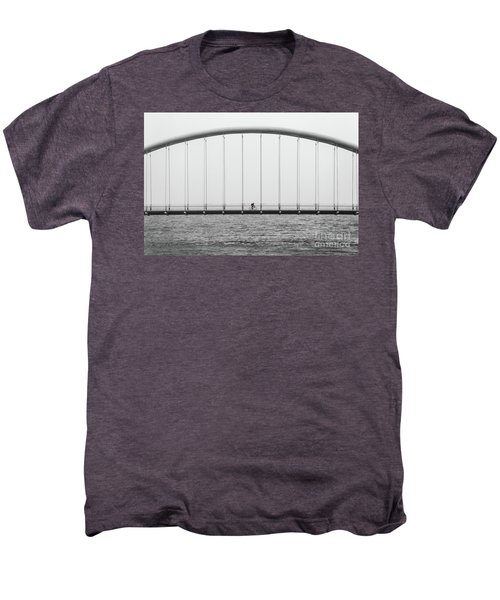 Men's Premium T-Shirt featuring the photograph Black And White Bridge by MGL Meiklejohn Graphics Licensing