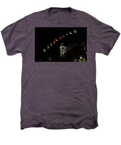 Blood Moon Over Old Main Men's Premium T-Shirt
