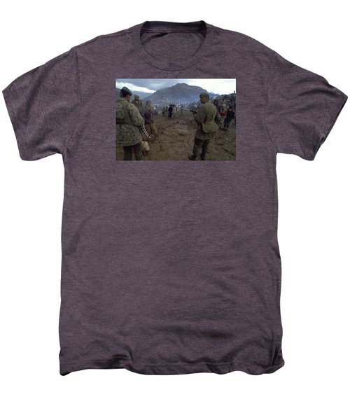 Men's Premium T-Shirt featuring the photograph Border Control by Travel Pics