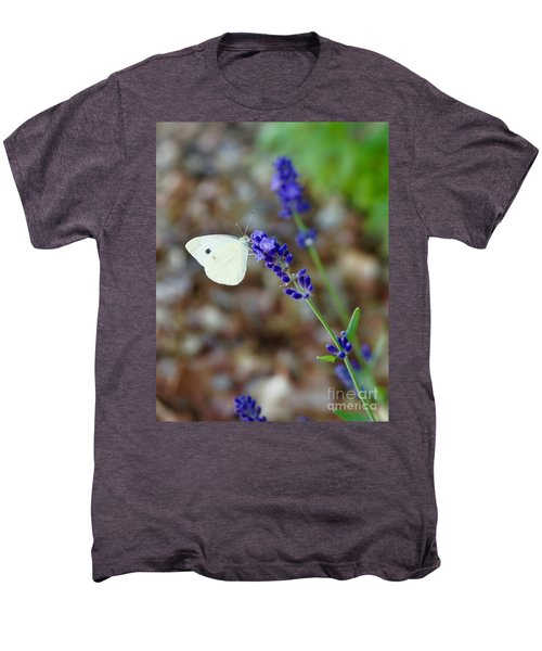 Butterfly And Lavender Men's Premium T-Shirt