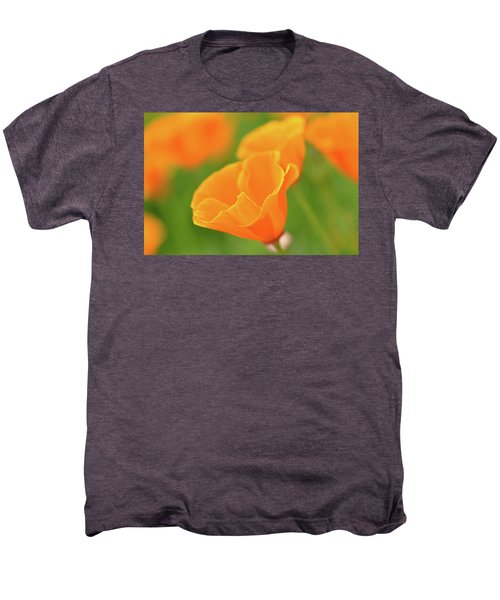 California Spring Poppy Macro Close Up Men's Premium T-Shirt