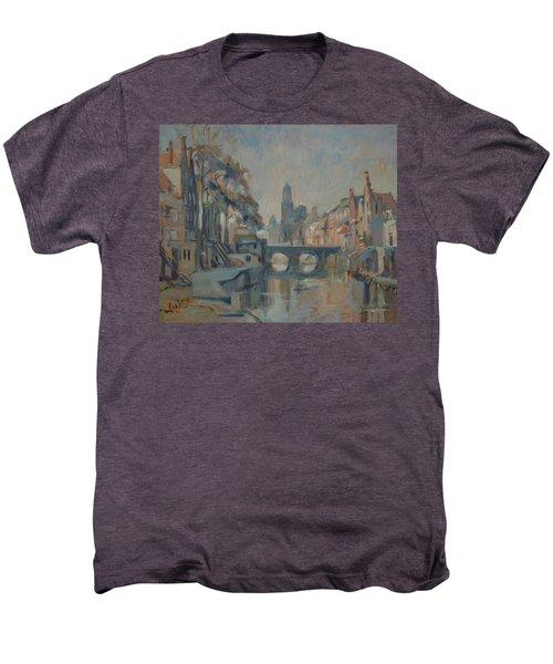 Canal In Utrecht Men's Premium T-Shirt
