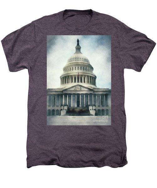 Capitol Building, Washington Men's Premium T-Shirt