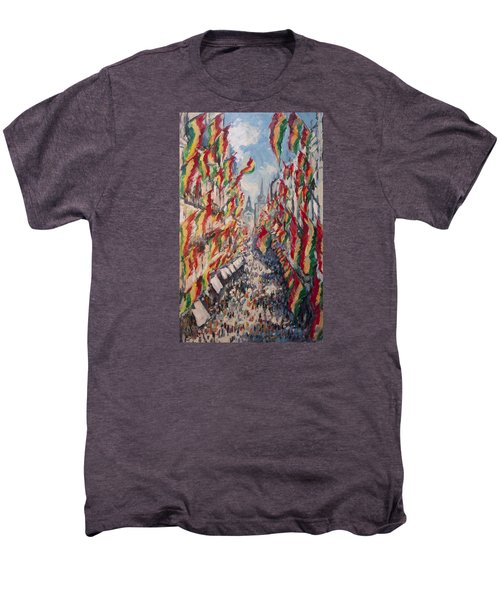 Carnival In The Grote Gracht In Maastricht Men's Premium T-Shirt by Nop Briex