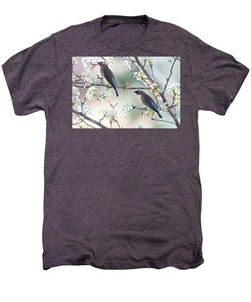 Cedar Wax Wing Pair Men's Premium T-Shirt by Jim Fillpot