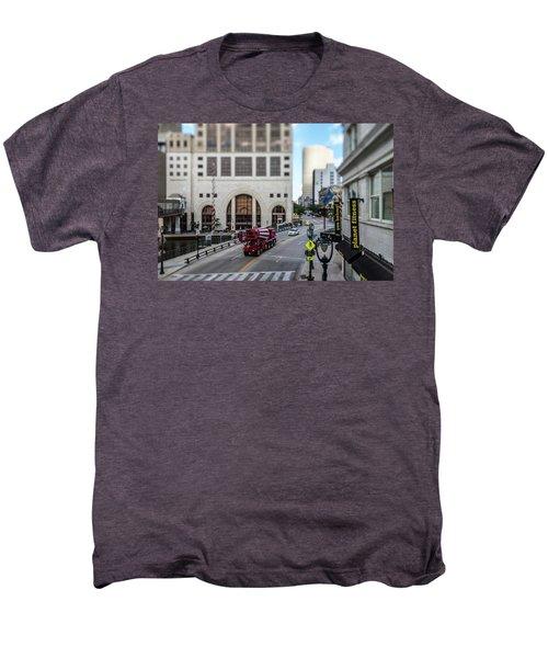 Cement Truck In The Itty-bitty-city Men's Premium T-Shirt