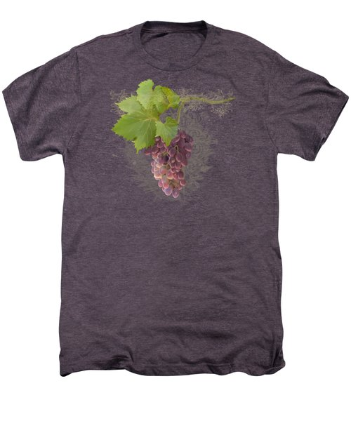 Chateau Pinot Noir Vineyards - Vintage Style Men's Premium T-Shirt by Audrey Jeanne Roberts