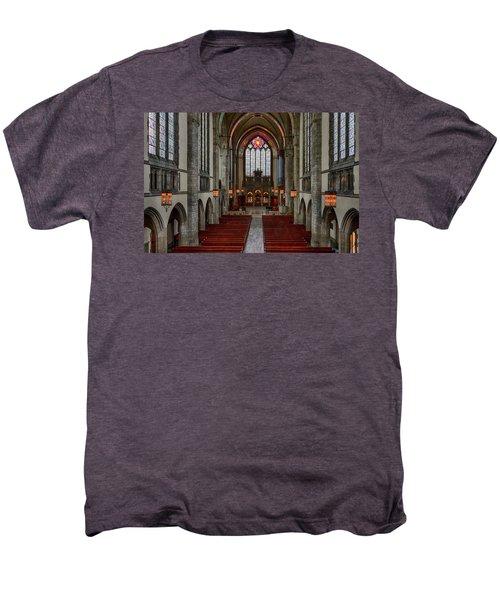 Chicago Rockefeller Chapel Men's Premium T-Shirt by Mike Burgquist
