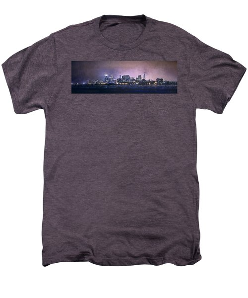 Chicago Skyline From Evanston Men's Premium T-Shirt