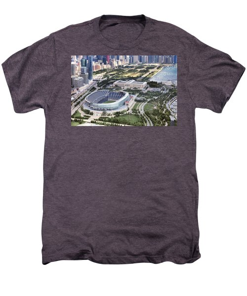 Men's Premium T-Shirt featuring the photograph Chicago's Soldier Field by Adam Romanowicz