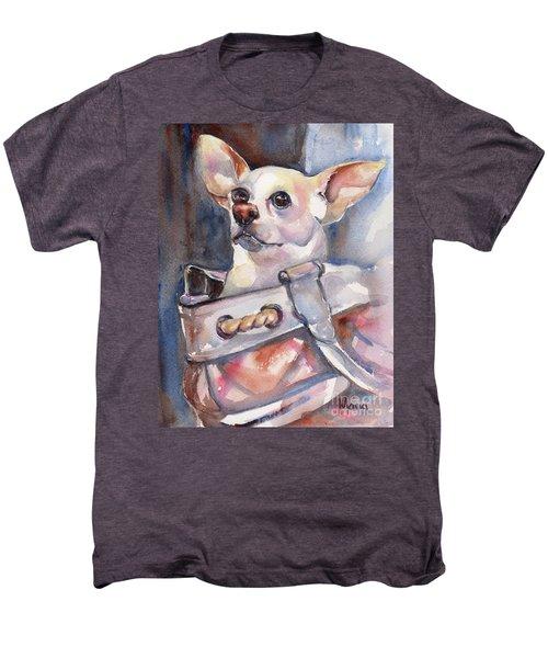 Chihuahua Men's Premium T-Shirt by Maria's Watercolor
