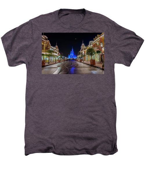 Cinderella Castle Glow Over Main Street Usa Men's Premium T-Shirt