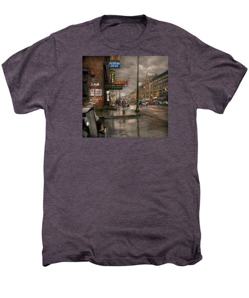 City - Amsterdam Ny -  Call 666 For Taxi 1941 Men's Premium T-Shirt