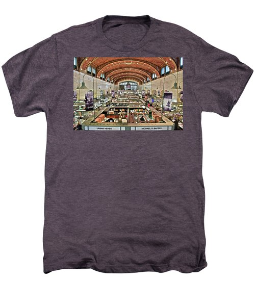 Classic Westside Market Men's Premium T-Shirt by Frozen in Time Fine Art Photography
