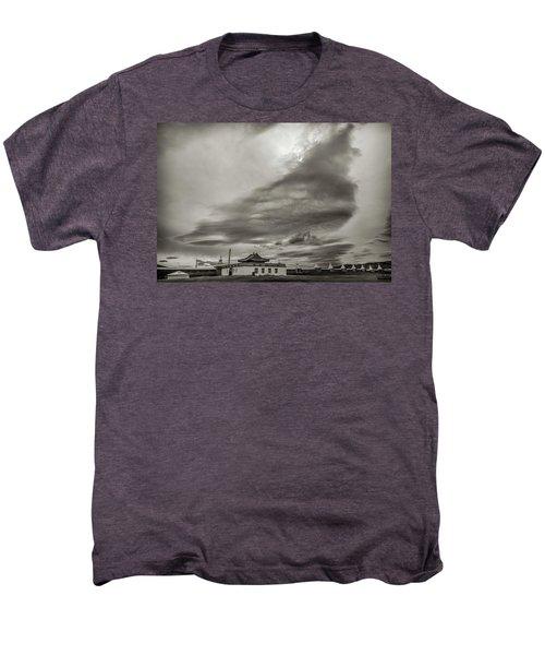 Men's Premium T-Shirt featuring the photograph Cloudy Sky, Karakorum, 2016 by Hitendra SINKAR