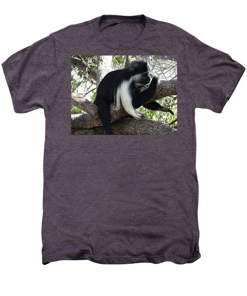 Colobus Monkey Resting In A Tree Men's Premium T-Shirt