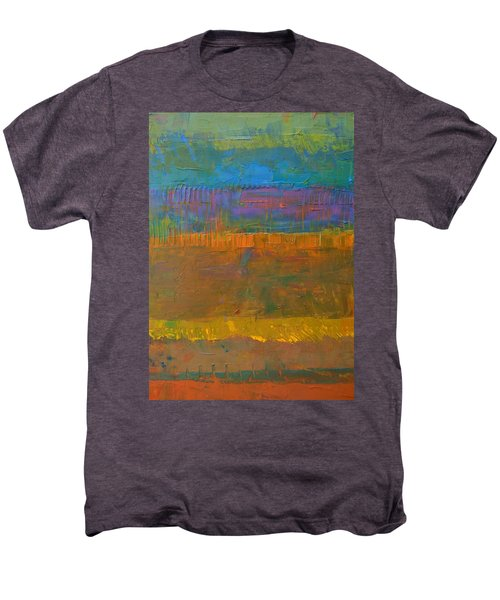 Men's Premium T-Shirt featuring the painting Color Collage One by Michelle Calkins