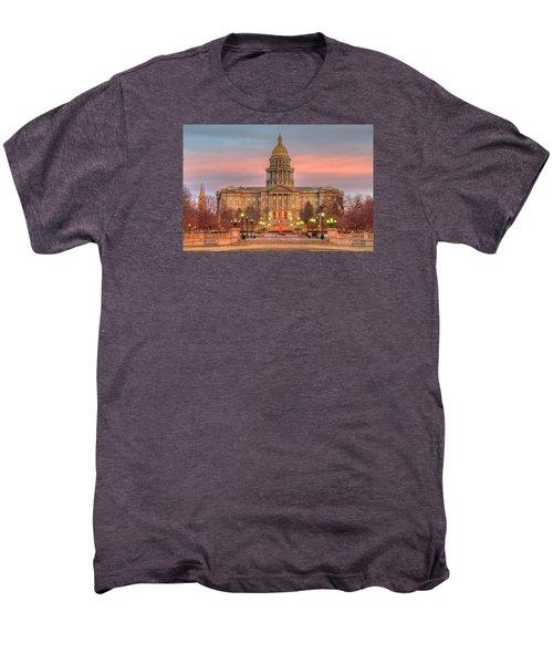 Men's Premium T-Shirt featuring the photograph Colorado Capital by Gary Lengyel