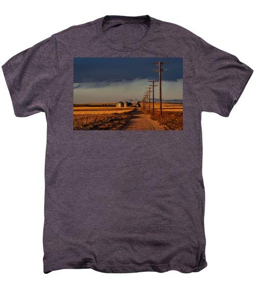 Colorado Farm Sunset Men's Premium T-Shirt