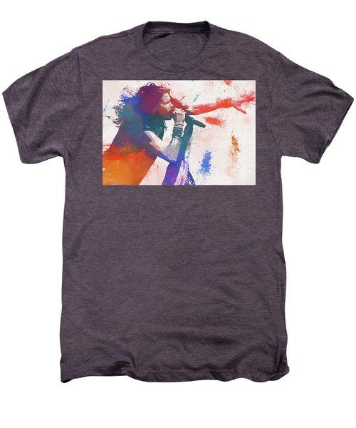 Colorful Steven Tyler Paint Splatter Men's Premium T-Shirt