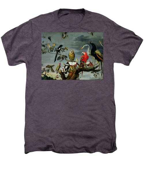 Concert Of Birds Men's Premium T-Shirt by Frans Snijders