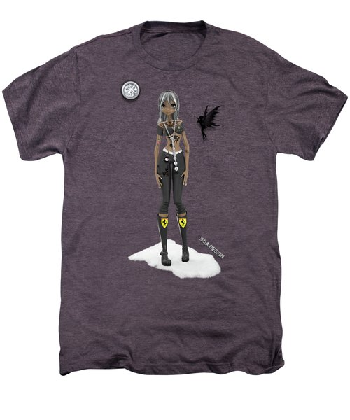 Cool 3d Manga  Girl With Bling And Tattoos In Black Men's Premium T-Shirt