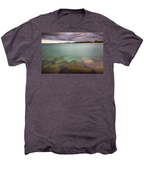 Men's Premium T-Shirt featuring the photograph Crystal Clear Lake Michigan Waters by Adam Romanowicz