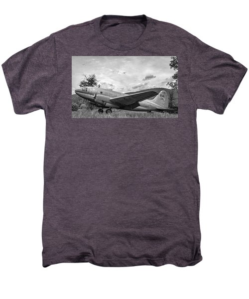 Curtiss C-46 Commando - Bw Men's Premium T-Shirt