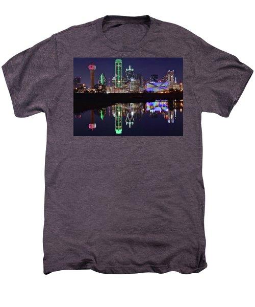 Dallas Reflecting At Night Men's Premium T-Shirt