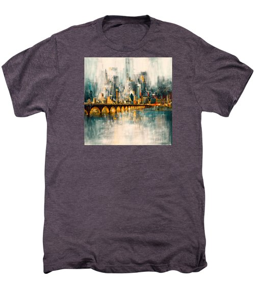 Dallas Skyline 217 3 Men's Premium T-Shirt by Mawra Tahreem