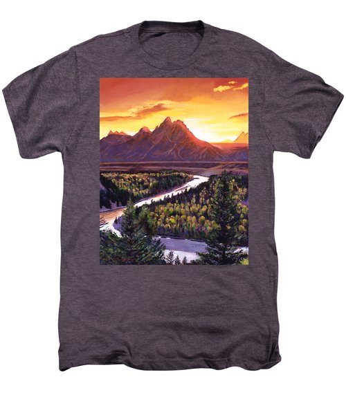 Dawn Over The Grand Tetons Men's Premium T-Shirt