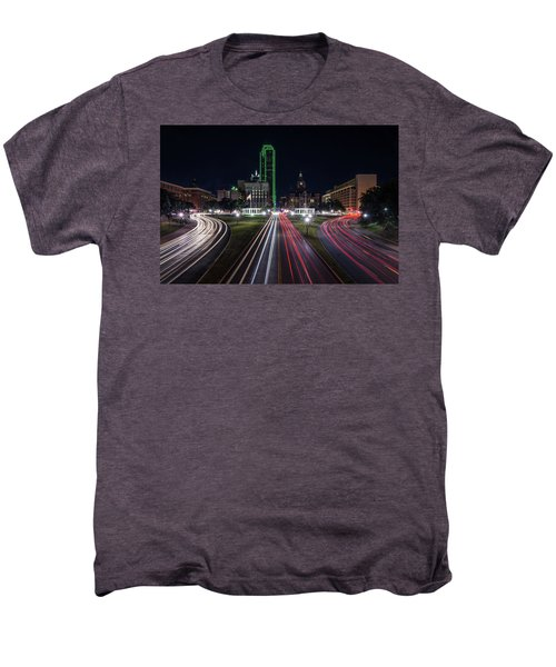 Dealey Plaza Dallas At Night Men's Premium T-Shirt