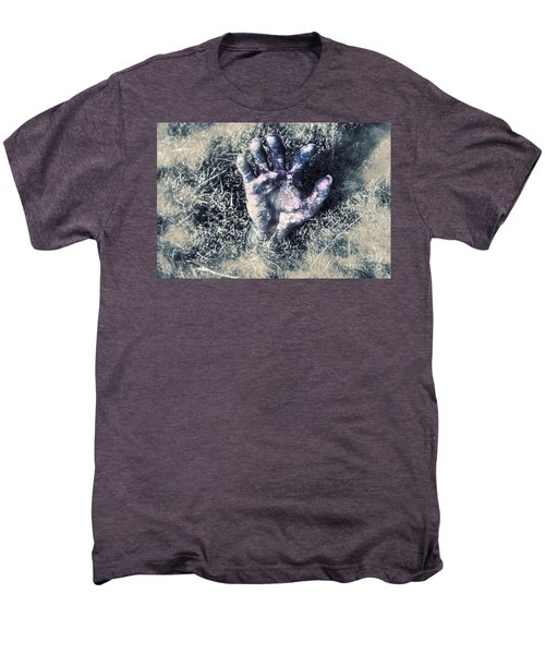 Decaying Zombie Hand Emerging From Ground Men's Premium T-Shirt