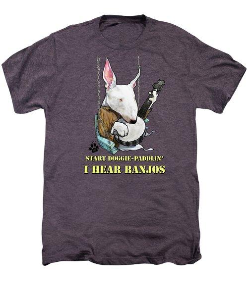 Deliverance Bull Terrier Caricature Art Print Men's Premium T-Shirt