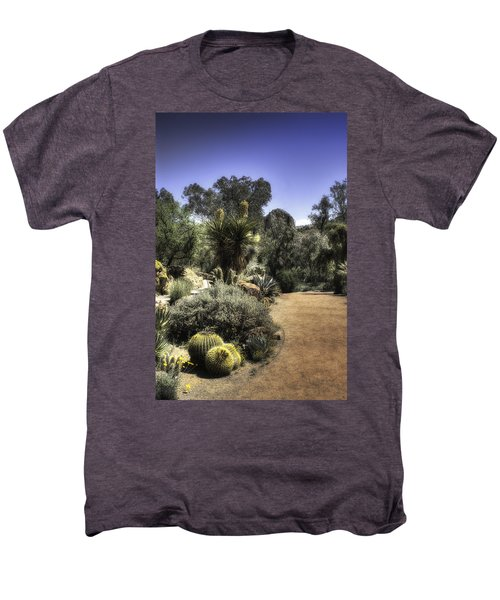 Desert Walkway Men's Premium T-Shirt by Lynn Geoffroy