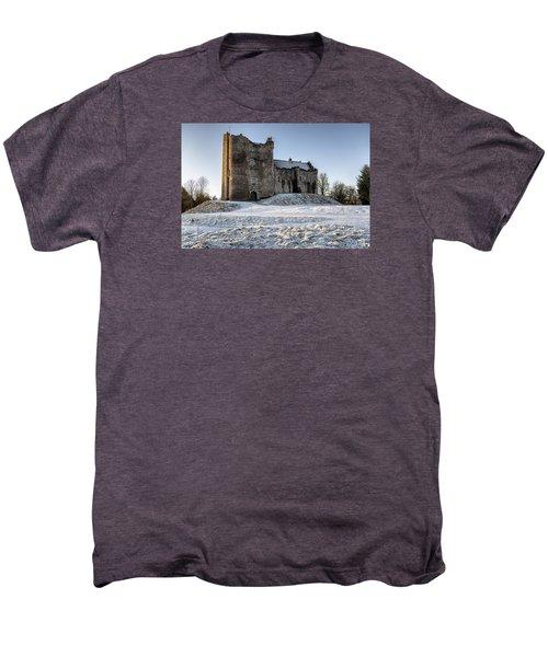 Doune Castle In Central Scotland Men's Premium T-Shirt by Jeremy Lavender Photography