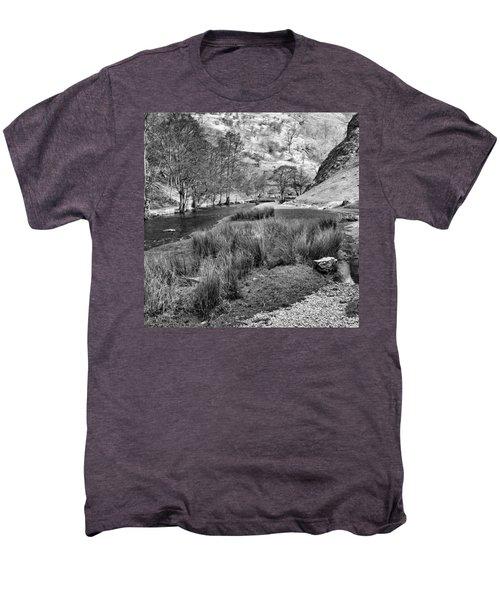 Dovedale, Peak District Uk Men's Premium T-Shirt