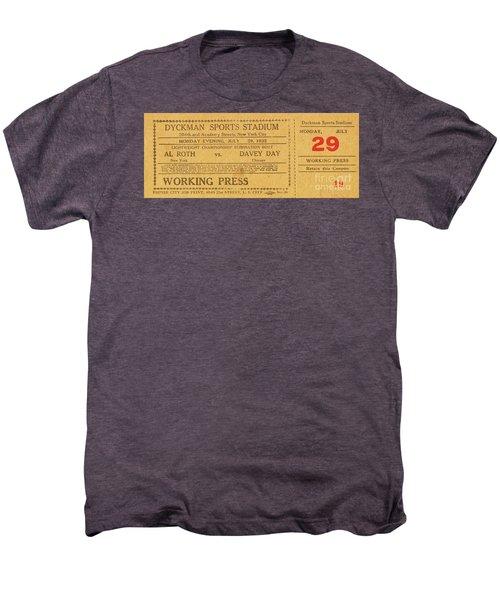 Dyckman Oval Ticket Men's Premium T-Shirt by Cole Thompson