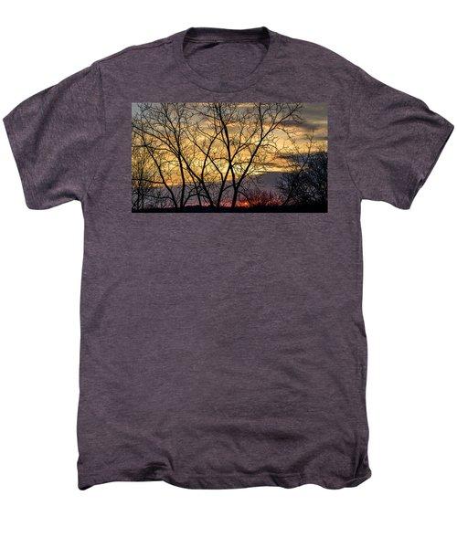Early Spring Sunrise Men's Premium T-Shirt by Randy Scherkenbach