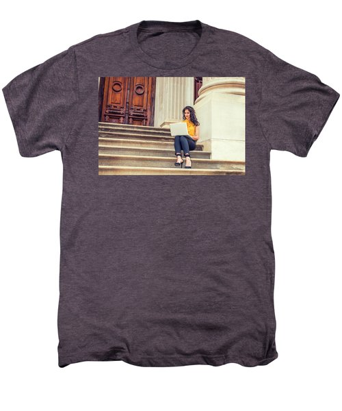 East Indian American College Student Studying In New York Men's Premium T-Shirt