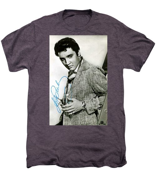 Elvis Presley Autographed Photo Men's Premium T-Shirt