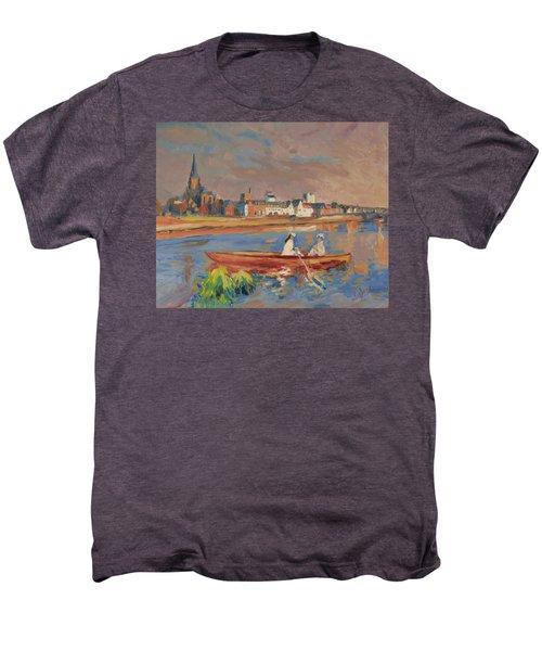 En Bateau De Renoir Sur La Meuse A Maestricht Men's Premium T-Shirt by Nop Briex