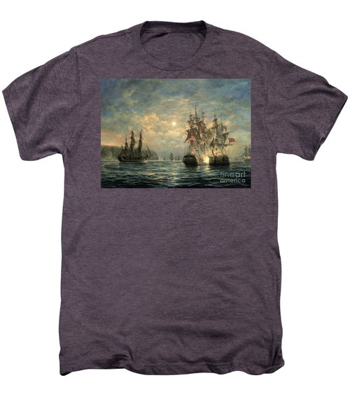 Engagement Between The 'bonhomme Richard' And The ' Serapis' Off Flamborough Head Men's Premium T-Shirt