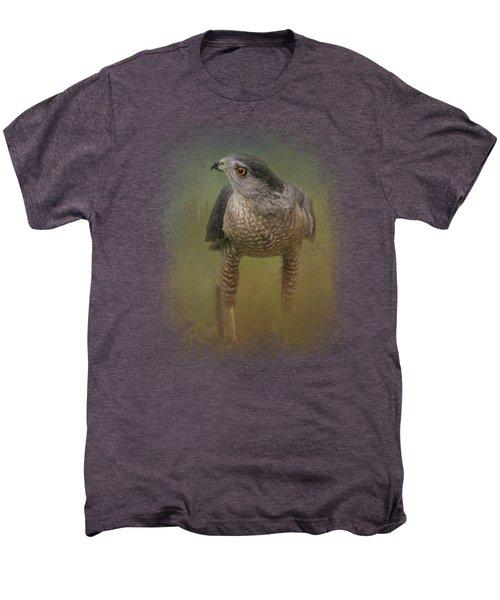 Evening Hawk Men's Premium T-Shirt by Jai Johnson