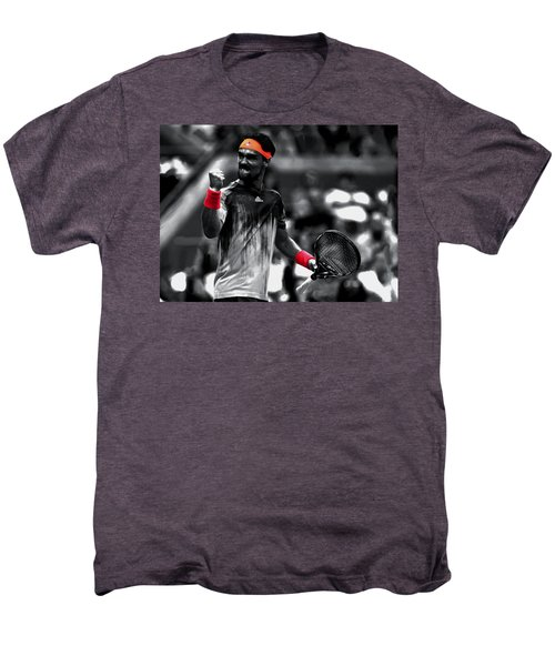 Fabio Fognini Men's Premium T-Shirt by Brian Reaves