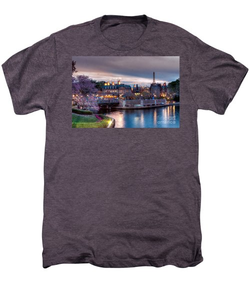 Fall Sunset Of France Men's Premium T-Shirt