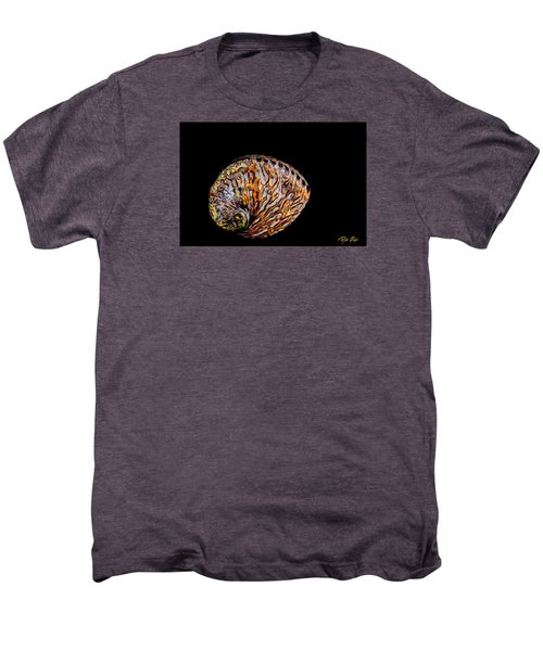Men's Premium T-Shirt featuring the photograph Flame Abalone by Rikk Flohr