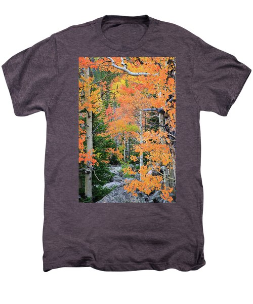 Men's Premium T-Shirt featuring the photograph Flaming Forest by David Chandler