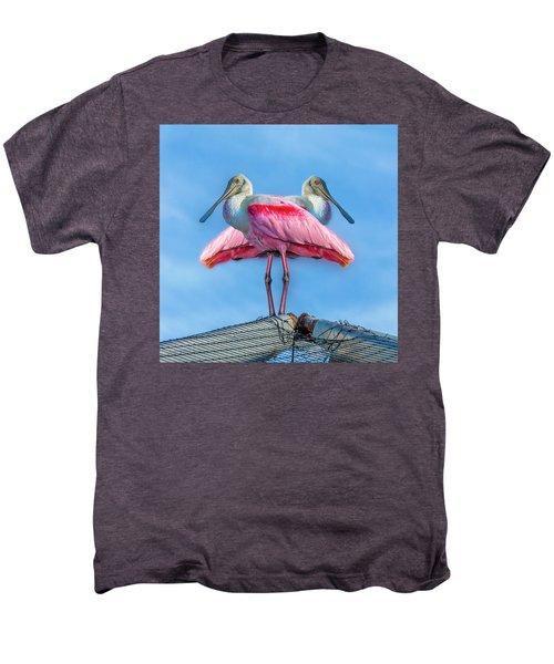 Florida Keys Roseate Spoonbill Men's Premium T-Shirt