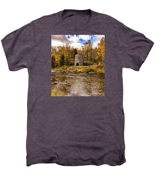 Men's Premium T-Shirt featuring the photograph Franconia Fall by Anthony Baatz